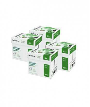 4 Caixes, 20 paquets. Paper Navigator DIN A4, 80 g. 500 fulls