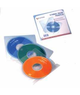 Funda de plàstic per a CDs, 10 unitats.