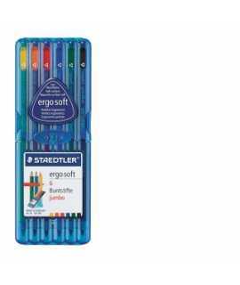 Llapis de colors Triplus Ergosoft Jumbo. 6 unitats