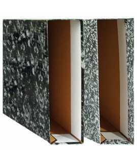 Caja archivador jaspeado. Tamaño: 32,3x29,5x8,6 cm. Color negro