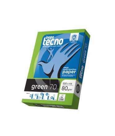 Paper reciclat Inapa Tecno Green DIN A4, 80 g. 500 fulls