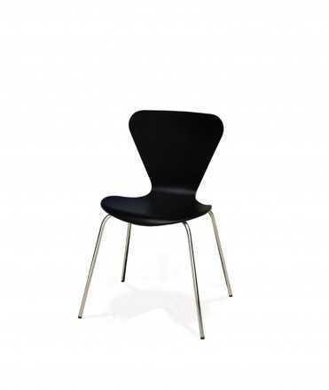 Cadira Danesa de Cuir negre
