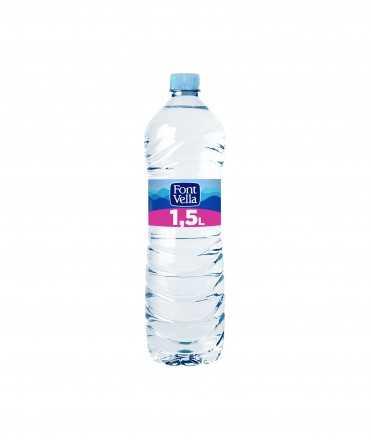 Aigua Mineral Natural Font Vella, 1,5l.