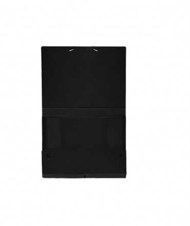 Carpeta de projectes desmontable, negre. Mida Foli, llom 3 cm.