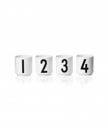 Set de tasses espresso 1234, Blanc