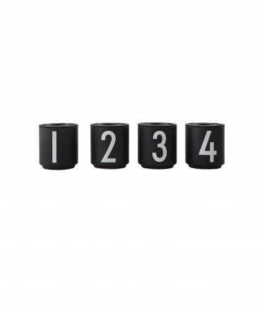 Set de tasses espresso 1234, Negre