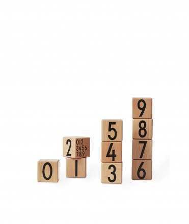 Cubs de fusta números