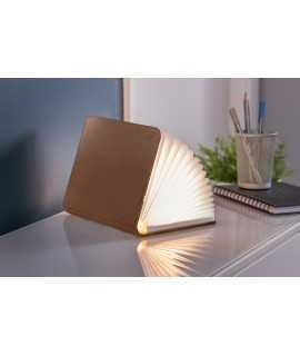 Lámpara Libro, piel marrón