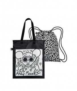 Mochila reversible Andy Mouse, Keith Haring