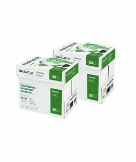 2 Cajas, 10 paquetes. Papel Navigator DIN A4, 80 g. 500 hojas