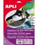 Etiquetes autoadhesives per a CDs, D.114mm. 50 unitats