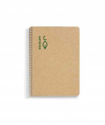 Llibreta Escolofi reciclada A5, llisa