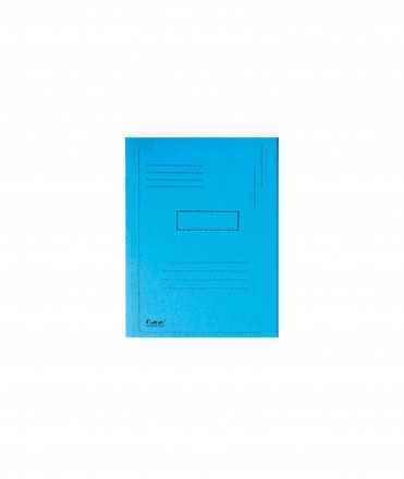Subcarpeta cartolina reciclada a4 blava 280g / m2 amb 2 solapes interior