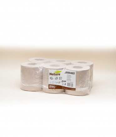 6 bobinas papel reciclado secamanos, 20cm x 143m.