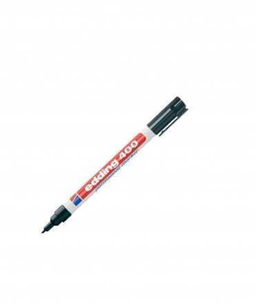 Retolador edding marcador permanent 400 negre punta rodona 1 mm recarregable