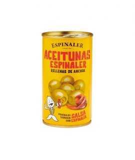 Llauna d'olives farcides d'anxova Espinaler, 350g.
