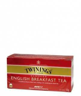 Té English Breakfast Twinings, 25 sobres