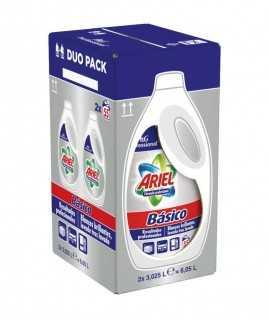 Ariel detergent líquid bàsic 110 dosis pack de 2 unitats