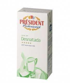 President llet desnatada brik 1l.