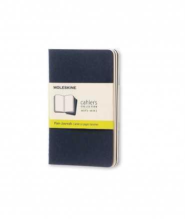 Moleskine Cahier Negre XL, fulls blancs. 3 unitats