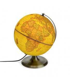 Bola del món antiga amb llum