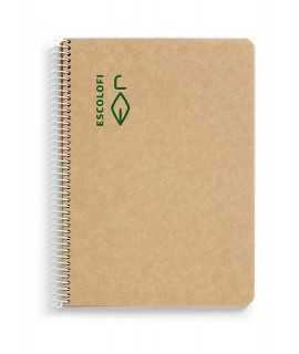 Llibreta Escolofi reciclada A4, quadriculada
