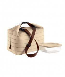 Bolsa térmica y recipiente Handy, Beige