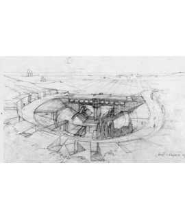 Croquis d'arquitectura Emili Donato. Primeres traces del procés creatiu i de recerca. Peça unica
