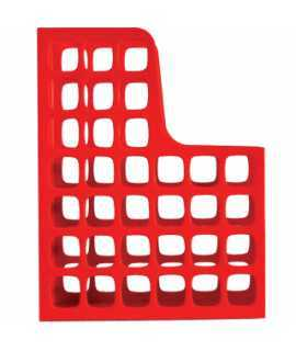 Porta-revistes Boxer. Mida: 31x24,5 cm. Color vermell