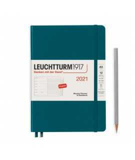 Agenda setmana vista i notes A5 2021, Leuchtturm1917
