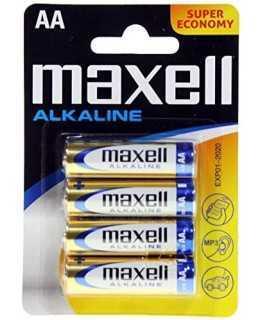 Blister 4 pilas AA 1,5V Maxell