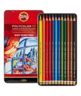 Capsa 12 llapis de colors Polycolor Koh-i-Noor