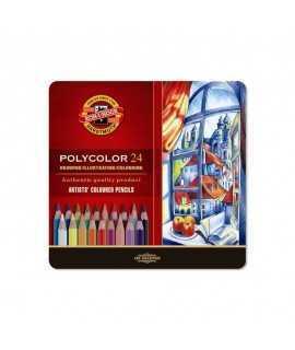 Capsa 24 llapis de colors Polycolor Koh-i-Noor