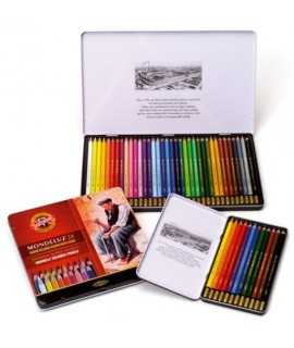 Capsa 36 llapis de colors aquarel·lables Mondeluz