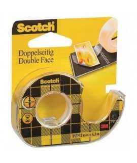 Cinta adhesiva doble cara Scotch amb dispensador. Mida: 6,3x12mm.