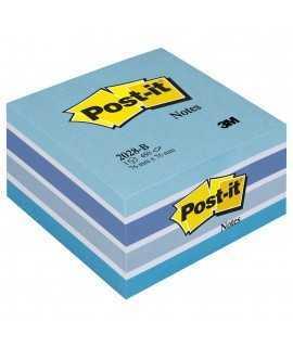 Bloc de notes adhesives Post-It. Mida: 7,6x7,6cm. 450 fulls.