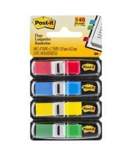 Banderillas adhesivas Post- It. Medida: 1,2x4,31cm.