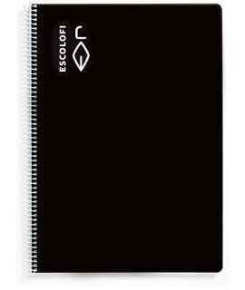 Llibreta Escolofi A4 negre, llisa