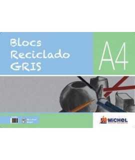 BLOC RECICLADO GRIS A4 MICHEL