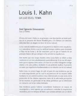 Louis I.Kahn. LA LUZ ES EL TEMA