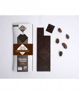 Chocolate negro bio 73% cacao, origen Ecuador