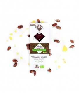 Chocolate negro bio 65% con aceite de oliva y flor de sal
