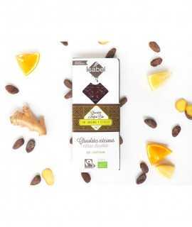 Chocolate negro bio 65% con jengibre y cítricos