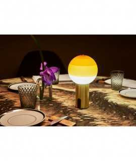 Lámpara de mesa Dipping Light amber-graphite, batería