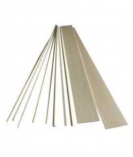 Llistó rectangular fusta de balsa, 2x5 mm