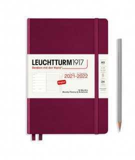 Agenda Leuchtturm1917 setmana vista i notes A5 2021-2022, Port Red