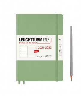 Agenda Leuchtturm1917 semana vista y notas A5 2021, Sage