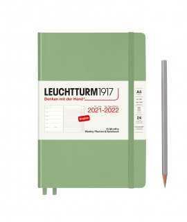 Agenda Leuchtturm1917 setmana vista i notes A5 2021-2022, Sage