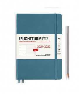 Agenda Leuchtturm1917 setmana vista i notes A5 2021-2022, Stone Blue