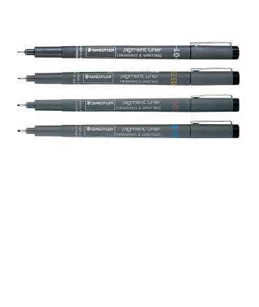 Retoladors Pigment Liner mina 0,10 mm